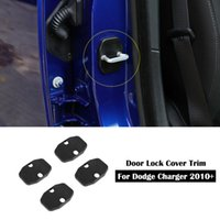 Porta Cover Lock Trava Buckle Decor guarnição de protecção para Dodge Charger 10 anos + / Durango 11 anos + / ram ram 10 anos +