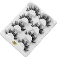 Yanlış Kirpikler 4 Pairs 3D Vizon Saç Kalın Uzunluğu 8 ~ 20mm Lasheswispy Makyaj Güzellik Uzatma Araçları Göz