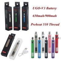 Ugo V3 Batteria Preriscaldamento VV 650 900Mah EVOD EGO 510 Batteria Voltaggio USB Variabile VAPOR VAPOR GRAND VAPOR PRE CALORE BATTERIE