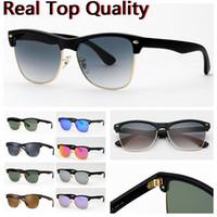 النظارات الشمسية المصممة النظارات الشمسية المتضخم للنظارات الشمسية للرجال مع الزجاج للأشعة فوق البنفسجية LENESE LENES، سوداء أو بني حالة جلدية، وجميع حزم البيع بالتجزئة!