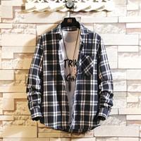 Marschwind Hohe Qualität Herren Gelb Langarm Büffel Mode Koreanische Flanell Hemden 4xl Männer Hip Hop Streetwear Kleidung Jacke