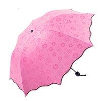 Guarda-chuva Automática Completa Chuva Mulheres Homens 3 Dobrável Luz e Durável 8K Guarda-chuvas Fortes Crianças Rainy Sunny Guarda-chuvas 6 Cores FFD3791