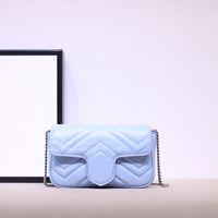 2021 جديد حار بيع الأزياء جلد طبيعي أعلى جودة المرأة حقيبة الكتف المرأة الكلاسيكية إلكتروني مفتاح سلسلة marmont حقيبة صغيرة 16.5 سنتيمتر الحرة shipin