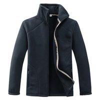 Giacche da uomo di marca Giacche in pile soprabito per maschio a maniche lunghe doppia rivestimento in velluto rivestimento esterno abiti abbigliamento KG-915