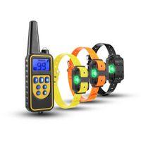ペット犬は880ヤードのトレーニングのための安全なショックの襟+遠隔防水電気を供給します