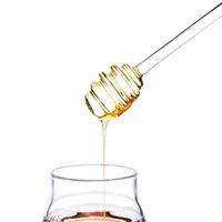 حار البائع العسل مشط عصا الكلاسيكية الزجاج العسل العسل dipper مع مقبض مريح