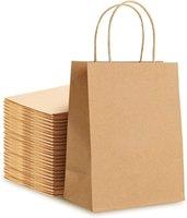 Sacchetti di carta Brown Kraft Shopping Sacchetto di carta con manici Borse regalo Imballaggio Riciclable Sacchetti Kraft riutilizzabili Sacchetti da sposa
