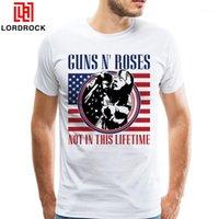 Brand Design Cool Guns N Rosas Flag T-shirt Concerto Não Neste Tee Lifetime Homens XXXL Tamanho Topo Camisa Boyfriend Presente T Shirt1