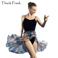 Ropa de escenario Impreso Lace Up Ballet Falda Mujeres Hermosa impresión gasa práctica envolver faldas adulto bailarina vestido dance sk19
