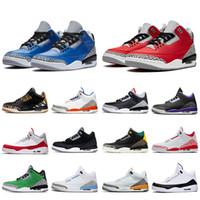 nike air jordan 3 jordan retro 3 3s أحذية أعلى جودة 2020 Jumpman 3 اسكواش ا ي الأحمر 3S اسمنت الرجال لكرة السلة الحريرالأردنريترو الليزر أورانج UNC 3 المدربين أحذية رياضية