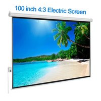 Salange Projector Screen 100 inch Motorized with Remote Cont...