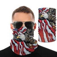 Esportes ao ar livre Pássaro Nacional Impressão EUA Bandeira Máscara Máscara de Proteção Máscara de Ciclismo Máscaras para Riding HWB1488