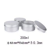 45pcs 200g de aluminio de la lata tarro de metal Contenedores Bálsamo labial del envase 200 ml vaciar la cera de la vela tarros crema Pot Box