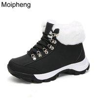 Сапоги Moipheng Зимние Женщины Теплые Снежные Безвоительные Пеночки Женщина Белые Обувь для Платформы Готики