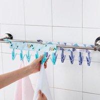 Reise Essentials Badezimmer Racks Tuch Aufhänger Wäscheklammer-Reisen Tragbare Klapptuch Socken Trocknungsbügel mit 6 Clips