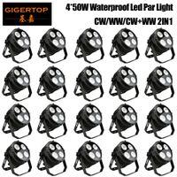 Gigertop بالجملة سعر الجملة 20 وحدة 4 × 50W البوليفيين في الهواء الطلق بقيادة الاسمية ضوء ديسكو ضوء DMX512 التحكم LED غسل ضوء المرحلة المهنية دي جي جهاز