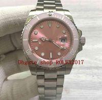 Mannen luxe mode roze keramische bezel platina saffier beweging automatische 40mm oystertyle cal.2813 horloges