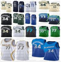 2020 nouveaux hommes Luka 34 Giannis 77 Doncic Antetokounmpo Basketball Jerseys