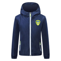 2020-21 Leeds Hombres Chaqueta de fútbol con cremallera con cremallera Cojines de fútbol de invierno Fútbol de invierno Capucha con capucha Lichtgevende Chaqueta Capa de chaquetas Running Chaquetas