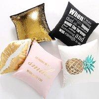 Ev Dekor Payetli Ananas Yastık Kılıfı Yastık Kapak Mektubu Yastıklar Yastıklar Hogar Coussin Pembe Cojines Decorativos Para Kanepe1