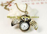 Mode Vintage Owl Dames Mannen Pockethorloge Ketting Accessoires Trui Ketting Dames Opknoping Heren Horloges Zakhorloges AA00193