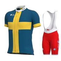 GROUPAMA-FDJ'nin 2020 Bisiklet Jersey 19D Önlüğü Seti MTB Üniforma Bisiklet Giyim Hızlı Kuru Bisiklet Giyim Giyim Erkek Kısa Maillot Culotte