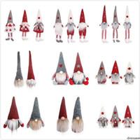 22 estilos de estilo divertido de la Navidad Sin Cara muñecas americana europea de la ventana de la muñeca Santa Claus muñeca de dibujos animados Juguetes de Navidad