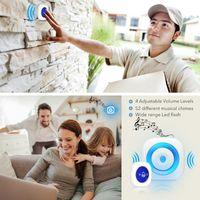 Türklinke drahtlose Türklingel mit SOS PANIC Button Batterieleistung für Home Security Auto Nachtlicht LED-Flash-Funktion 52 Songs Ringglocke