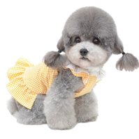 Yaz Köpek Elbiseleri Kız Yavru Kedi Ekose Prenses Elbise Parti Doğum Günü Pet Yelek Giysileri Küçük Orta Köpekler Için