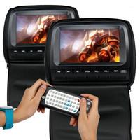 자동차 비디오 2pcs 9 인치 머리 받침 모니터 DVD 플레이어 800 * 480 지퍼 커버 TFT LCD 화면 지원 IR / FM / USB / SD / 스피커 / GAME1