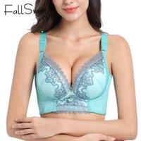 Fallsweet Broderie Bras gratuits pour femmes Push up Bra Bra Sexy Lingerie Femme 201013