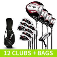 Los clubes Principiante juego completo de palos de golf de los hombres de 12 MTG007 de clase I Right Hand varillas 12 clubes + Bolsas