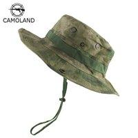 التكتيكي قناص التمويه Boonie القبعات النيبالية كاب الجيش Militares الرجال المشي لمسافات طويلة قبعات الصيف قبعة دلو الصيد