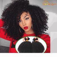 8A 브라질 아프리카 변태 곱슬 머리카락 번들 밍크 브라질 곱슬 버진 인간의 머리카락 확장 AFRO Kinky 곱슬 직물 가가 퀸 헤어