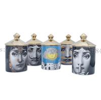 Titular de vela de cerâmica Retao DIY velas artesanais de armazenamento do vintage caixa de armazenamento da decoração da casa da caixa de armazenamento da casa
