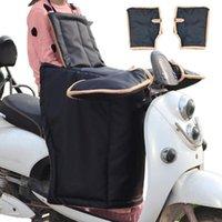Motocycle Racing Vêtements Dashboard Scooter Scooter Résistant à froid Couverture de la voiture électrique Noir pare-brise Noir Épaississement imperméable avec manche Slee