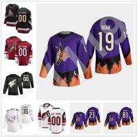 Arizona Coyotes 2021 Обратная ретро хоккейные трикотажные изделия 91 Тейлор Холл Джерси Фил Кессель Шейн Дуэнь Клейтон Келлер Дарси Кумупер Пользовательские сшитые