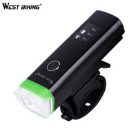 Bike Lights West Biking 1200mAh Ciclismo Smart Induction Front Light Waterproof LED Bicycle USB CARNY Torcia Faro