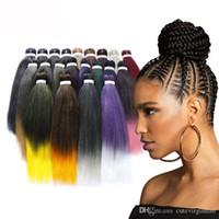 20 인치 5 팩 뜨거운 판매 땋는 머리 옴 브레 색 점보 꼰 머리 짜기 합성 쉬운 꼰 머리 # 1b