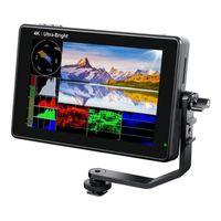 Monitores LUT7S 7 pulgadas 2200NIT Monitor de campo de cámara DSLR de pantalla táctil SDI Ultra Bright con el sensor de luz de la forma de onda del lut 3D