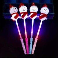 LEDパーティーマジックワンドグロースティックフラッシュコンサートホリデーの装備品ホームスノーマンスティッククリスマス