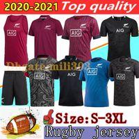 NOUVEAU 20 21 Jersey de rugby zélandais 2020 2021 Best Qualité Polo Shirt 100 Anniversaire Edition commémorative Edition commémorative Rugby Maillots Taille: S-3XL