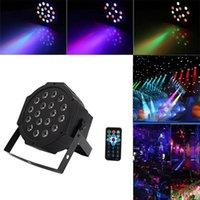 24W 18-RGB LED Auto / Sprachsteuerung DMX512 Hohe Helligkeit Mini Bühnenlampe (AC 100-240V) Schwarz * 2 Bewegt Kopf Lichter Großhandel