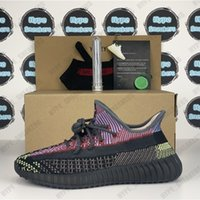 Top Quality Kanye West Synth Synth Light True Form Desert Sage Cinder Statico Sneakers Riflettente Sneakers Uomo Donne in esecuzione Oreo Scarpe con regali box