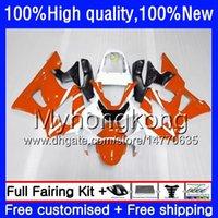 Kit pour HONDA CBR 929RR 900 929 RR 00 01 2000 2001 50HM.149 blanc orange CBR900 RR CBR 900RR 929CC CBR900RR CBR929RR CBR929 RR 00 01 Carénage