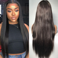 Silky Straight Lace Front Wig Brazilian Virgin Human Hair La...