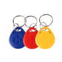 10pcs RFID KeyTags 13.56MHz 14443A M1 S50 SMART IC Key Bague Tag Keyfob Jeton Access Control1