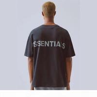 2020 HIP HOP 6. Tanrı'nın Korkusu Essentials 3 M Yansıtıcı Tee Kaykay Serin Tshirt Sis Erkek Kadın Pamuk Kısa Kollu Rahat T Gömlek