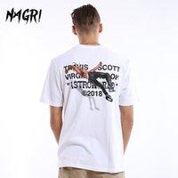Nagri Men T-Shirt Fan Lettera Stampa Travis Scotts Astroworld Pocket Graphic Taskrst Lettera Stampa Streetwear Hip Hop Tee