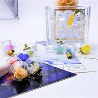 Neue 16mm Farbe Diamant Trockene Blume Glas Kugel Kreative DIY Ohrringe Halskette Kleine Handy Schlüsselanhänger Anhänger